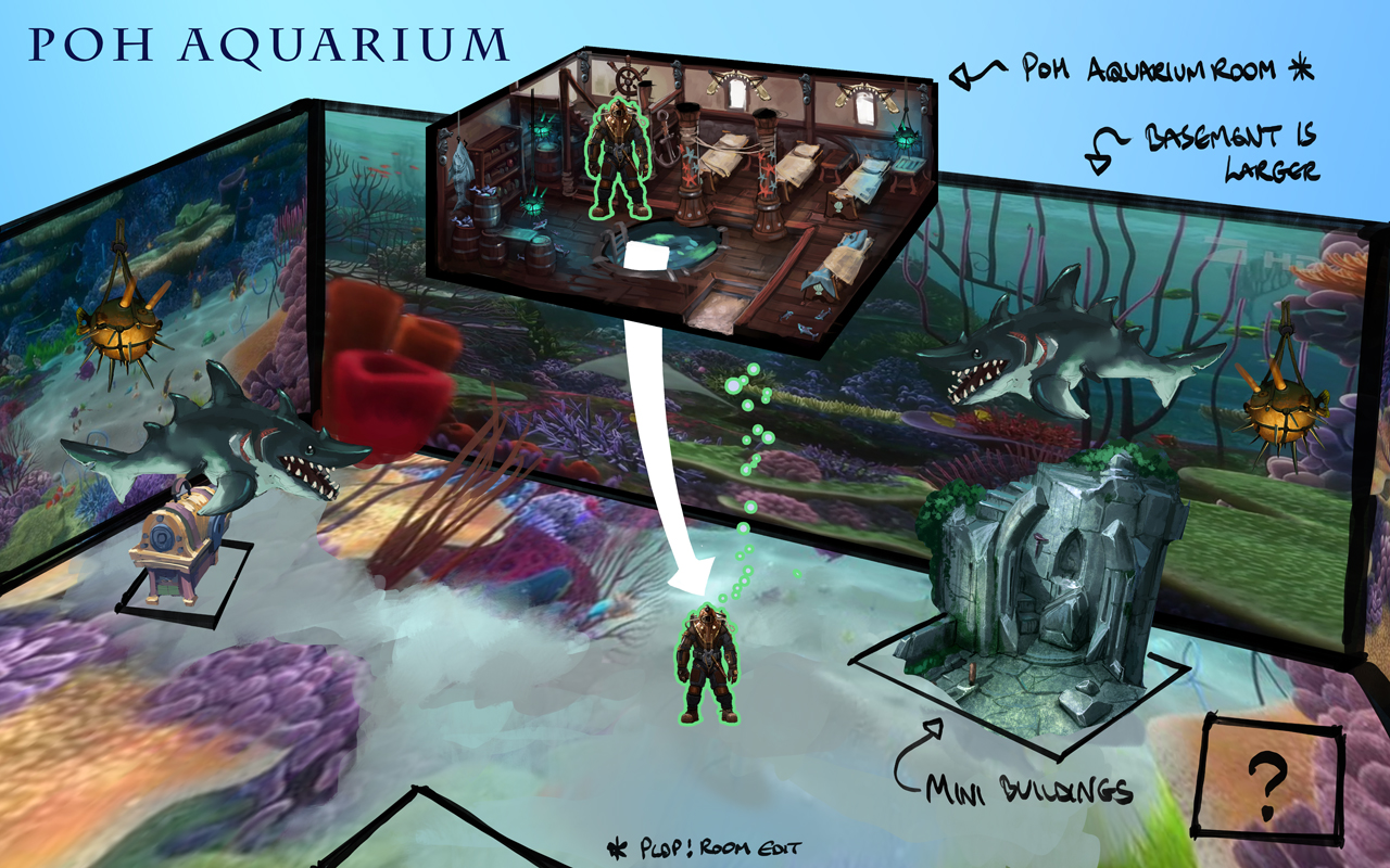 Fish in aquarium runescape - Image Aquarium Concept Art Jpg Runescape Wiki Fandom Powered By Wikia