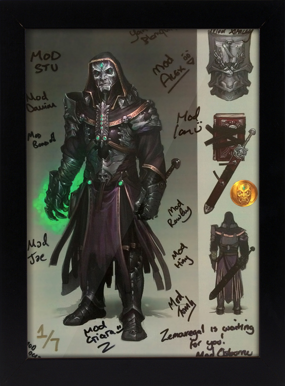 Signed concept art of Zemouregal
