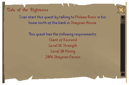 Tale of the Righteous and Kourend Favour - Runescape Oldschool News