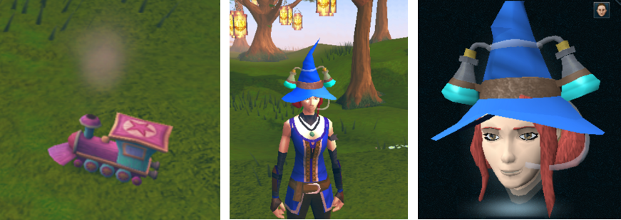Image of Hype Train and Potion Hat.