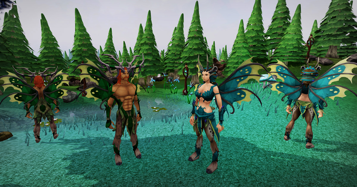 The new Satyr Outfit in action!