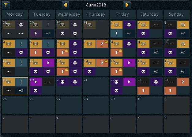 In-game Calendar | Patch Notes