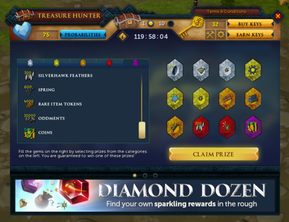 RS3 diamond dozen