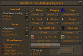 Changes to Teleblock and Extra Clan Wars Options