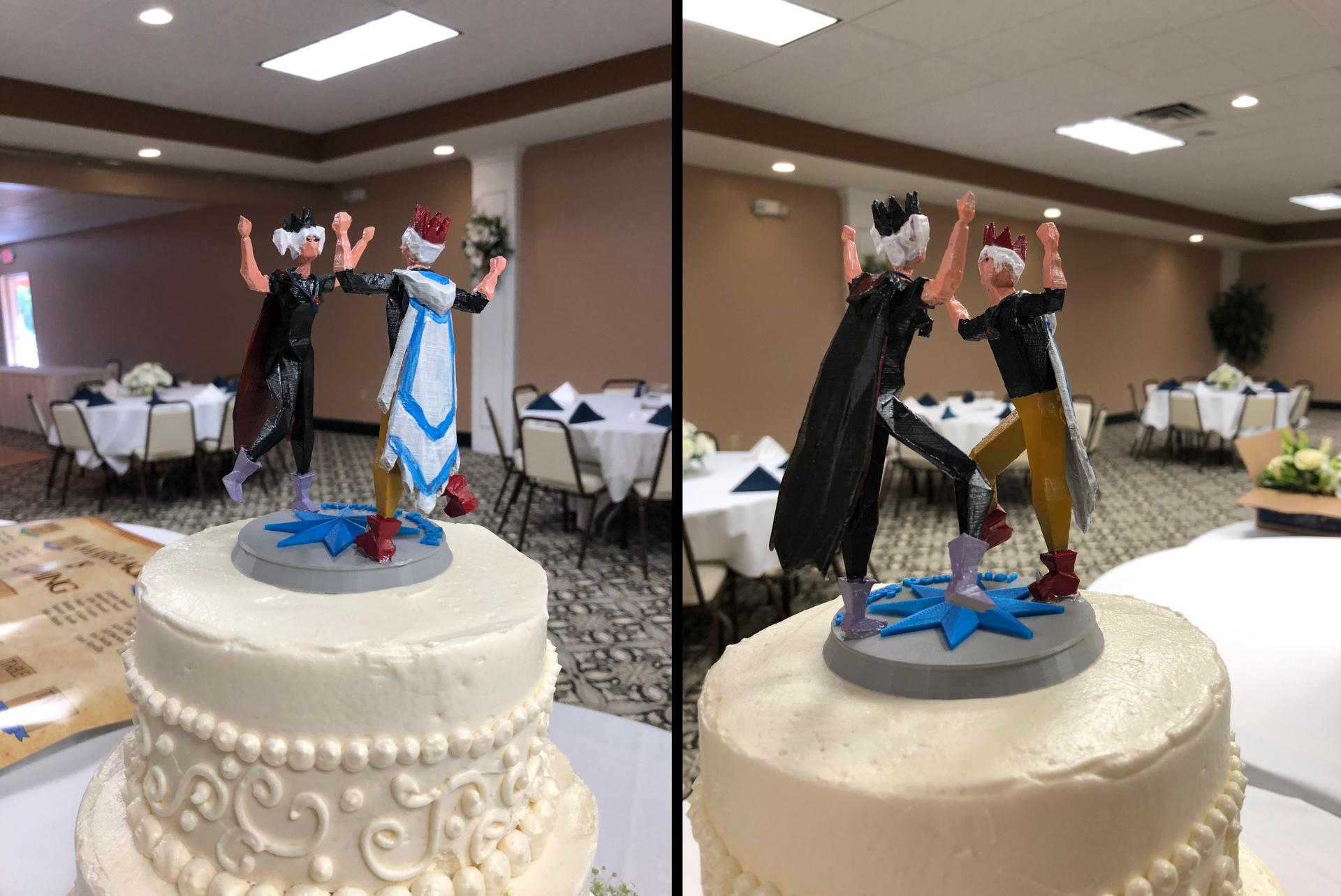 Old School RuneScape Wedding Cake Topper